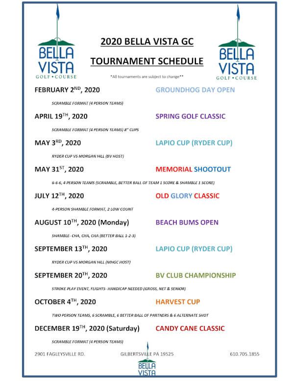 2020 Tournament Schedule final